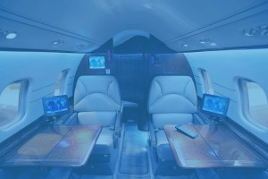 corporate jet entetainment system
