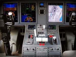 efis on corporate jet