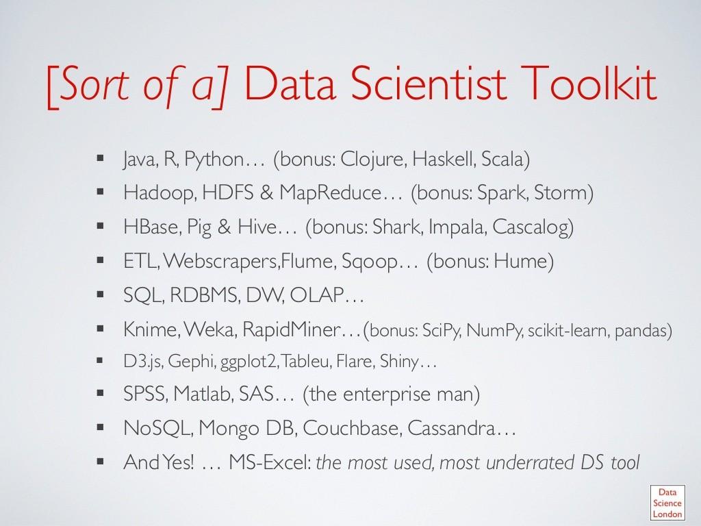 herramientas para profesionales en ciencia datos