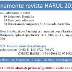 Abonamente revista HARUL pe anul 2012