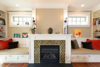 Pratt and Larson Elongated Hex Fireplace
