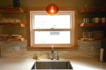 Pratt and Larson Tile Encircle White Kitchen