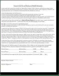 HIPAA Disclosure Baptist Eye Surgeons Knoxville TN
