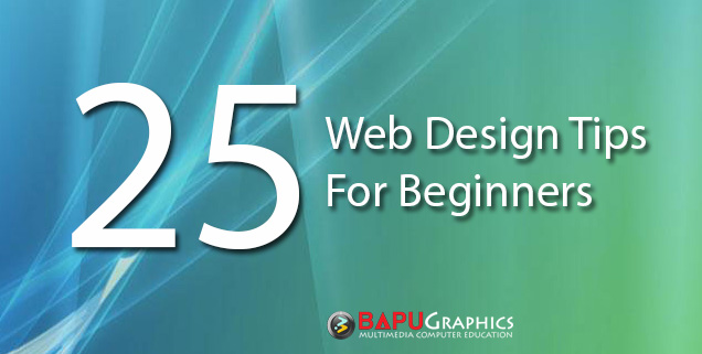 tips for students learning web design course