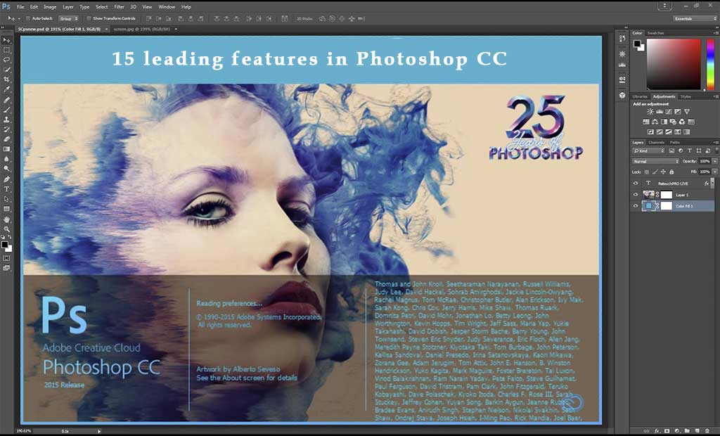 15 leading features in Photoshop CC