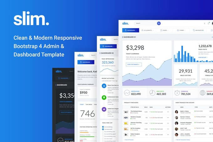 20 Best Premium Bootstrap Admin Dashboard Templates
