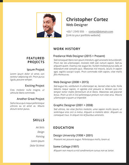 Download Free Resume Templates For Graphic Designers In 2020