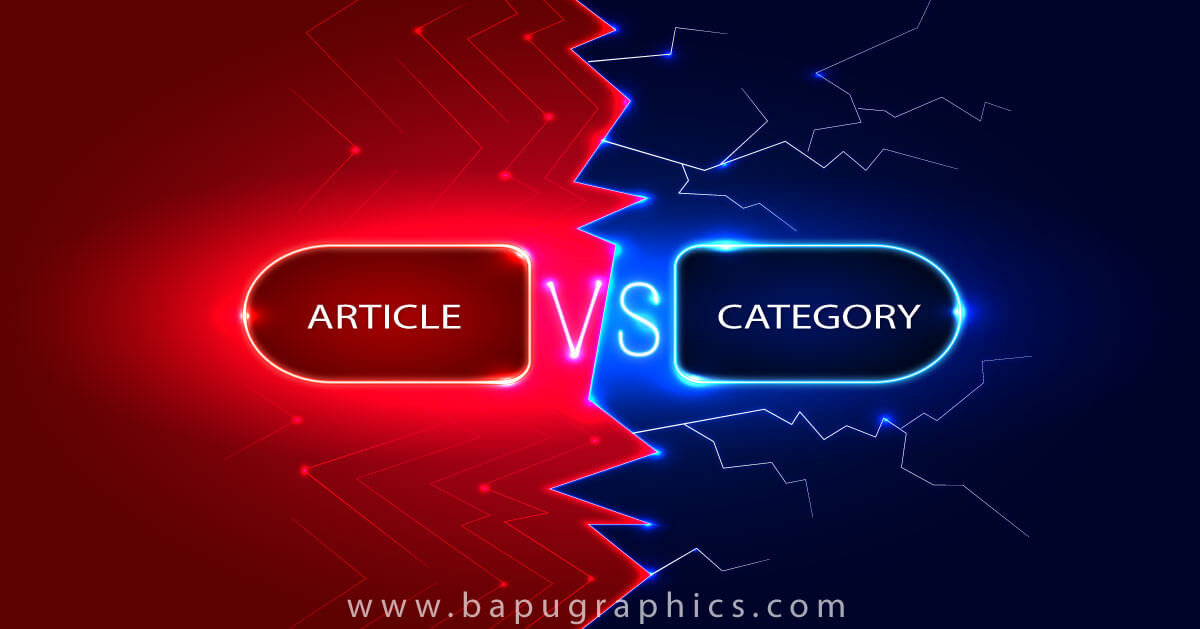 article or category for seo