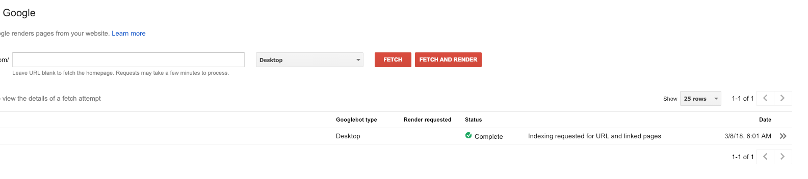 fetch as google webmaster