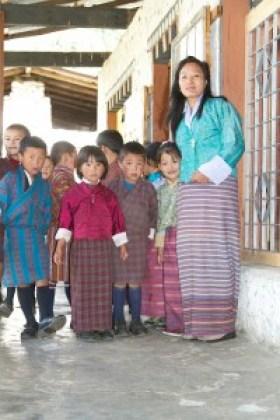 Ecoliers du Bhoutan
