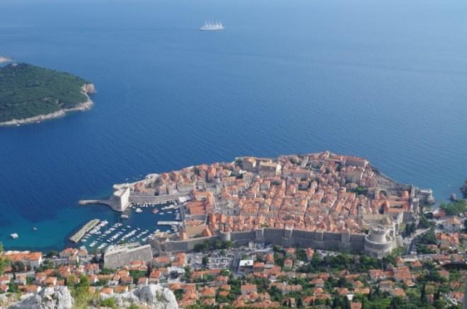 Vue surplombant Dubrovnik