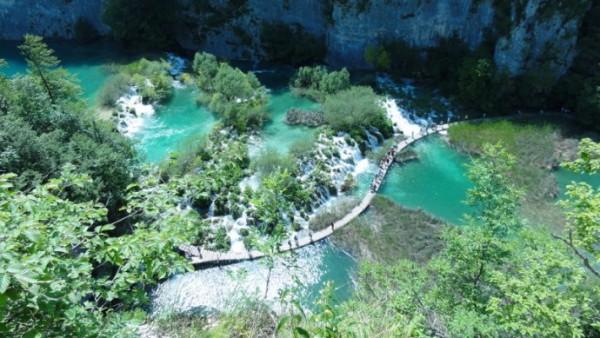 Vue panoramique des lacs de Plitvice