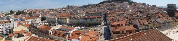 Vue sur Lisbonne depuis la caserne de la GNR - blog Bar a? Voyages