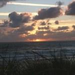 coucher soleil dans les dunes à Hossegor - blog voyages - Bar à Voyages