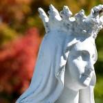Détail d'une sculpture religieuse à Saint-Antoine - Québec