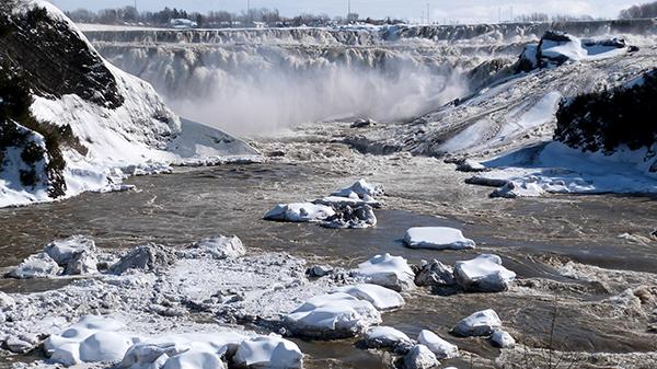 Chutes de la Chaudière en hiver - Québec