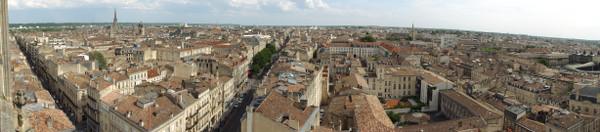 Bordeaux en version panoramique depuis la Tour Pey Berland