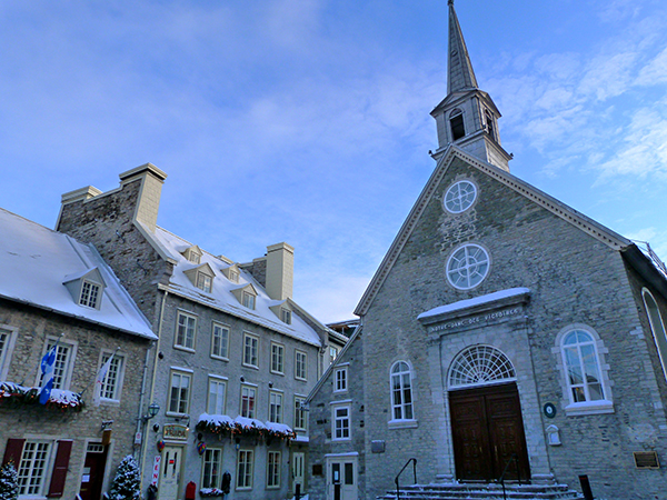 Le vieux Québec dans ses habits d'hiver ©Franck/Le Bar à Voyages