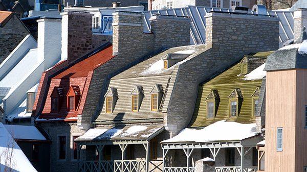 Les toits du vieux Québec en hiver ©Franck/Le Bar à Voyages
