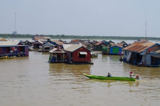 Village flottant Tonlé Sap Cambodge