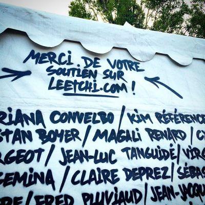 Quelques-uns des noms des participants à la cagnotte Leetchi pour sauver l'édition 2016 du festival Musiques Métisses à Angoulême ©Le Bar à Voyages / Magali Renard