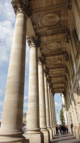 colonnes extérieures du Grand Théâtre de Bordeaux