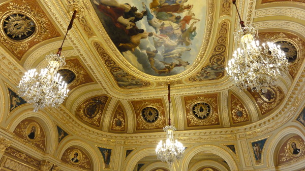 Plafond du salon de réception du Grand Théâtre de Bordeaux