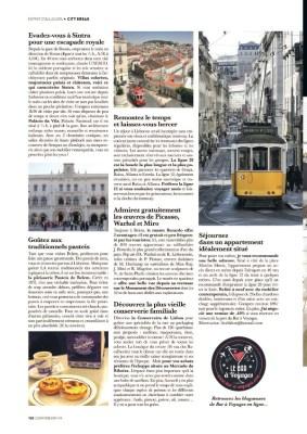Article sur Lisbonne dans le magazine Esprit Berry n°1