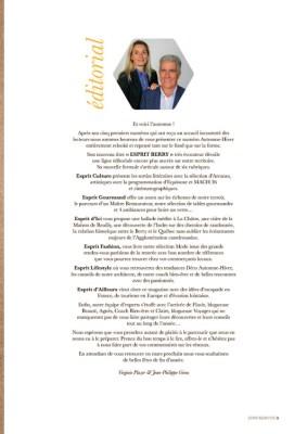 edito du magazine Esprit Berry n°1