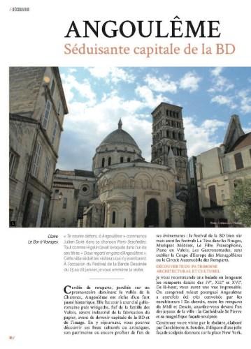 page 1 article Angoulême magazine Ma Ville à Moi 34