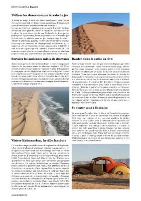 Article sur la Namibie dans le magazine Esprit Berry n°2