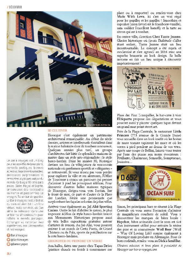 page 3 article Hossegor magazine Ma Ville à Moi 35