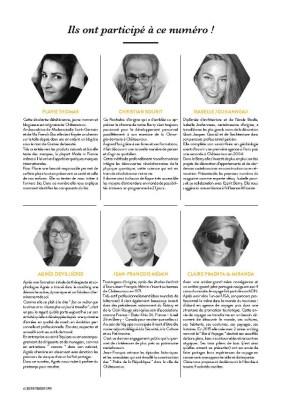 présentation des contributeurs dans le magazine Esprit Berry n°2