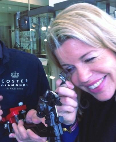 Claire chez Coster Diamonds - Amsterdam - blog Bar à Voyages