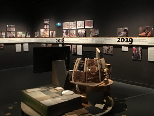 exposition expliquant les travaux du Muséum de Bordeaux