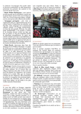 Article Amsterdam page 2 Magazine MaVilleAMoi N°45 - blog Bar a Voyages