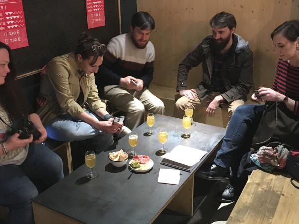 Notre groupe participant à l'Échappée Bière