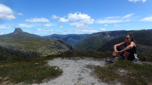 Lucille lors d'une randonnée en Australie