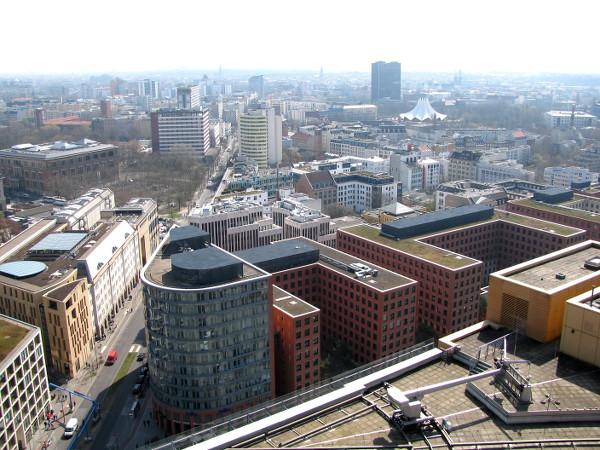 Vue sur Berlin depuis Panoramapunkt