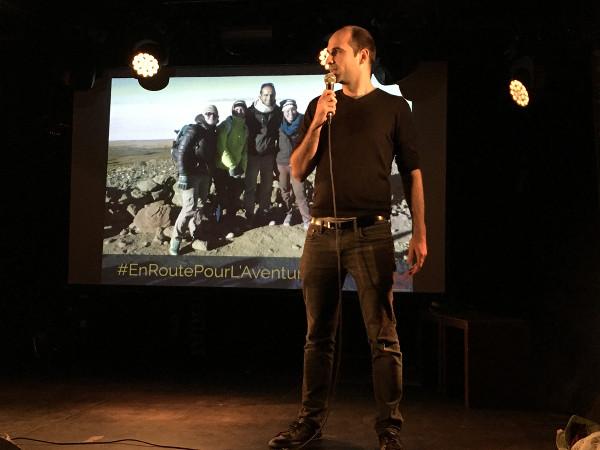 Barth, speaker présente son voyage lors de Traveler On Stage