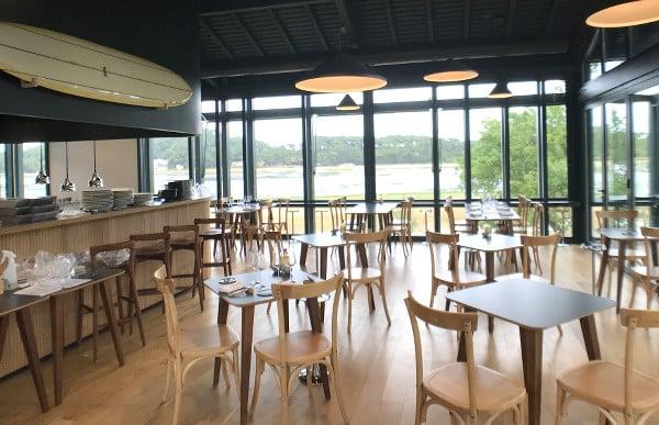 Salle du restaurant des Hortensias du Lac