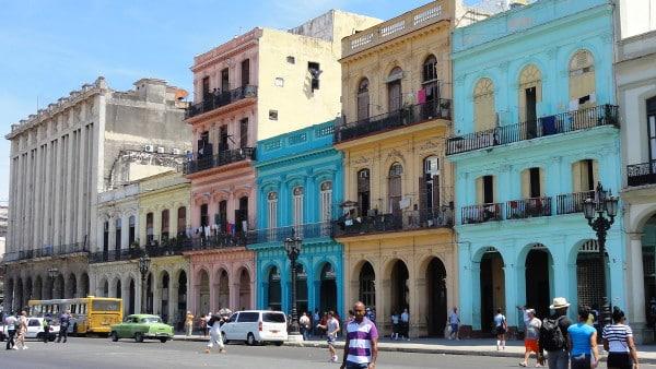 façades colorées de La Havane