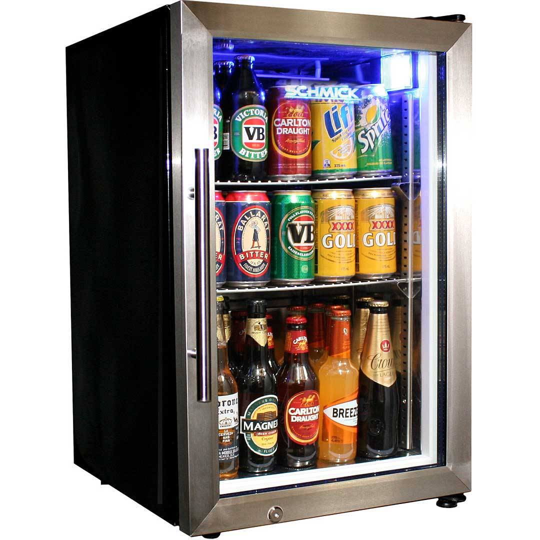 Tropical Glass Door Beer Fridge Compact 68 Litre With Lock