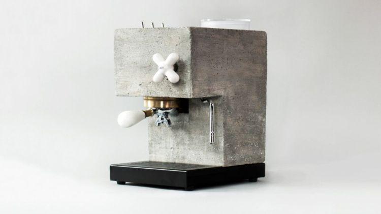 macchina da caffè in cemento