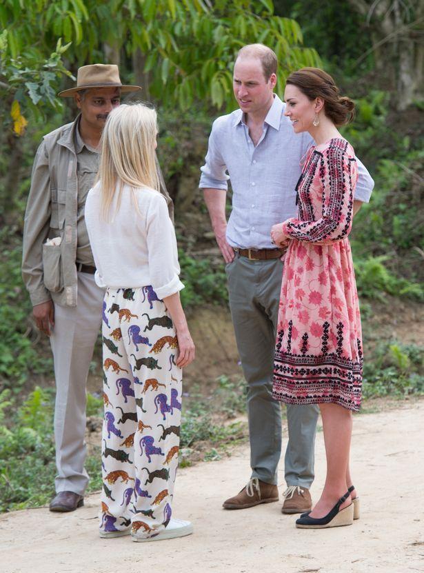 زار وليام وكيت مؤسسة مارك شاند في حديقة كازيرانجا الوطنية