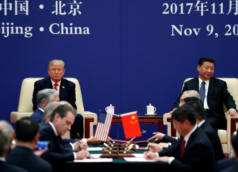 """ترامب: يمكن الإعلان عن صفقة تجارية """"ضخمة"""" مع الصين وقمة شي في غضون أسابيع"""