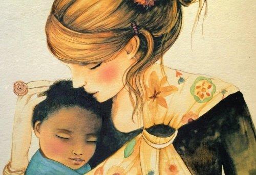 يحتاج الأطفال لدينا العناق لتكون جزءا من العالم