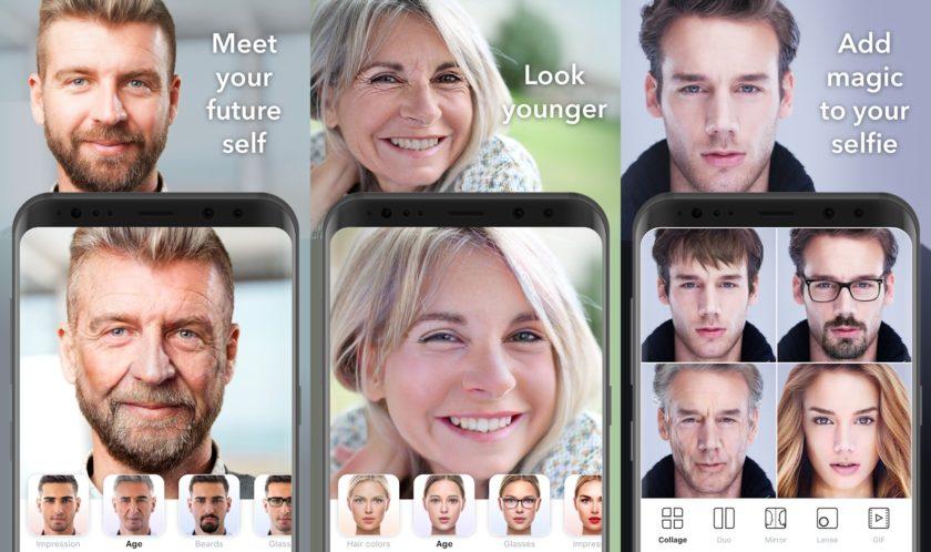 لقطات تطبيق FaceApp