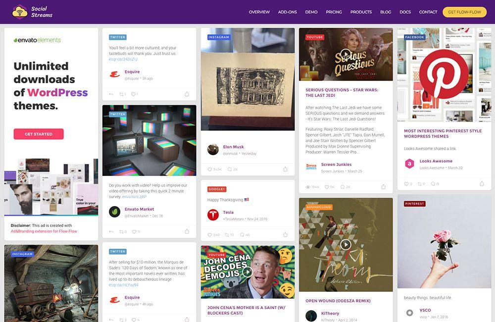 تدفق الاجتماعي دفق: أفضل وسائل الإعلام الاجتماعية الإضافات لورد