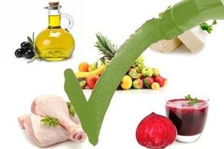 الأطعمة المشار إليها في حالة ارتفاع ضغط الدم